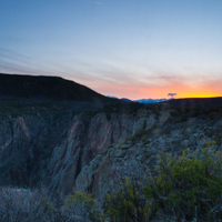 Sunrise Over the Canyon