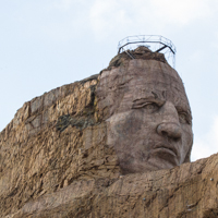 Crazy Horse Face Detail