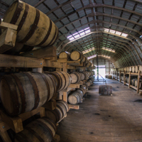 Barrel Storage in Barn